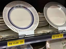 Chegou prato de 26cm somente 13 reais a unidade