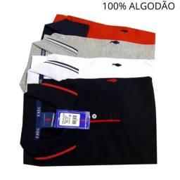 Kit 4 Camisas Polo Masculina Algodão / Camisa masculina