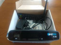 NETBOX N-90 na caixa pouco uso com antena wi-fi.