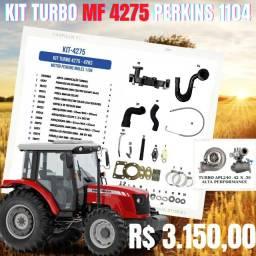 Kit turbo MF 4275 motor Perkins 1104 Inglês ( Silencioso c/ coletor )