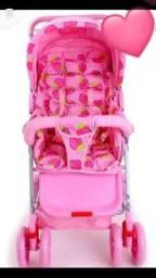 Carrinho de bebê rosa   R$: 200