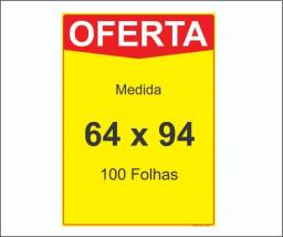 Cartaz Oferta 64 x 94 cm ( 100 folhas )