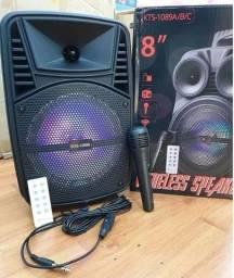 Caixa De Som Portátil - com Wireless - Bluetooth controle e Microfone