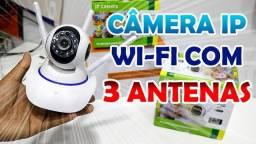 Camera Wi-fi Ip Robo 3 Antenas Hd 720p Visão Noturna 1.0mp