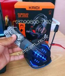 Headset Gamer kaidi KD-763 ENTREGA GRÁTIS