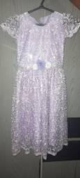 Vendo esse vestido de festa pra criança de até 8 anos