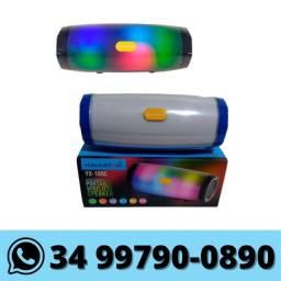 Caixa de Som Portátil Bluetooth com Led