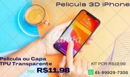 Pelicula 3d ou Tpu Transparente iPhone 12, 11, Xs Max, 7 8 6s Anti Shock Pelicula
