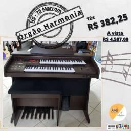Órgão Harmonia HS 75 - Marrom