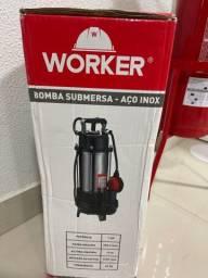 Bomba submersa worker zero na caixa