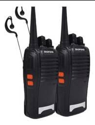 Walkie-talkie<br>Kit 2 Radio Comunicador Baofeng  Fone