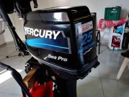 Motor de popa 25hp mercury ano 2013 impecável por 15hp.