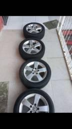 Roda 16 com pneu 80% semi novo