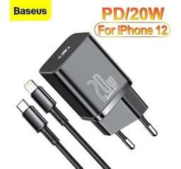 Título do anúncio: Carregador iPhone 11 12 Turbo Tipo C 20w Quick Charge Baseus+Cabo