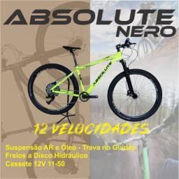 Bicicleta Aro 29 12v Absolute Freio Hidráulico + Trava Guidão + Nova + Frete Grátis