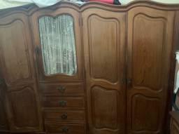 Jogo de quarto de madeira boa antiguidade top