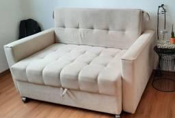 Sofá cama bege -Retirar no local
