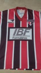 Camisa do São Paulo para Colecionadores IBF, Círio e TAM + Retrô Lance