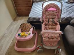 Carrinho de bebê ColorBaby e andador
