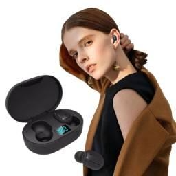 Fone sem fio Bluetooth com visor de % Bateria