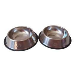 Comedouro Inox para cães e gatos