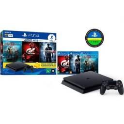 PS4 Slim 1 TB e 3 Jogos