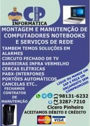 Manutenção e montagem de computadores, notebooks , redes etc.