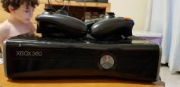Xbox 360 500 gb com 2 controles, kinect e 17 jogos originais!
