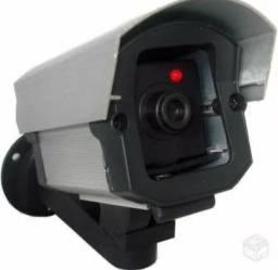 Camera falsa com luz led identica