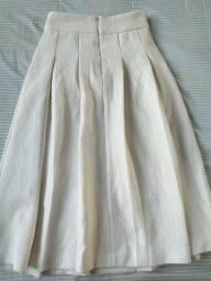 Vendo saia branca em poliéster e elastano