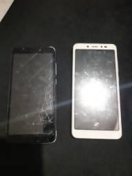 Vendo esses 2 celular multileiser apenas trincado funcionando perfeitamente