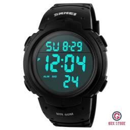 Relógio Masculino Skmei 1068 Black Digital Original Prova D'Água (Frete Grátis)