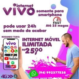 Internet móvel ilimitada no seu celular