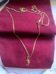 Vendo ou troco cordão de ouro + pingente