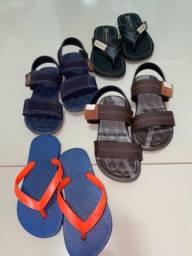 Kit sandália e chinelo infantil