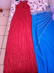 Vestidos de Festa Vermelho: R$70,00 e Azul R$60,00