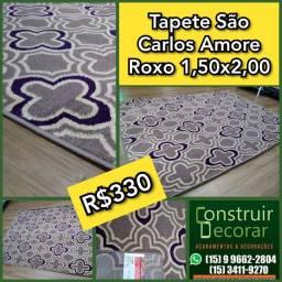 Tapete São Carlos Amore Roxo 1,50x2,00 ? Novo