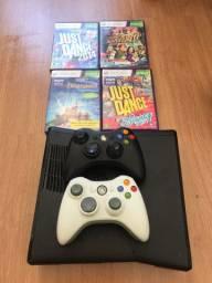 Xbox 360 2 controles kinect 4 jogos
