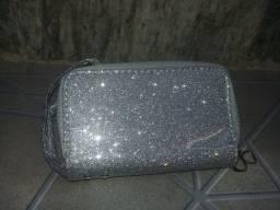 Carteira feminina com glitter