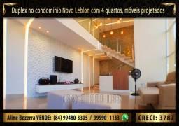 Lindo duplex no Novo Leblon com 4 suítes, móveis projetados, cozinha com ilha