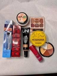 Kit maquiagem 8 produtos.