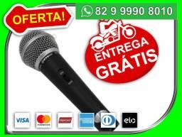 Seu.pedido.entregamos-Gratis-Microfone Profissional M58 + Cabo