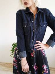 Jaqueta jeans estilo camisa