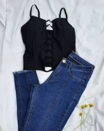 Título do anúncio: Look Cropped e calça jeans