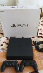 Título do anúncio: PS4 Slim 1Tera de memória+ 2 consoles + câmera+ jogos