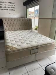 cama box + cabeceira - queen size - entrego