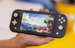 Videogame Nintendo Switch lite cinza e verde!