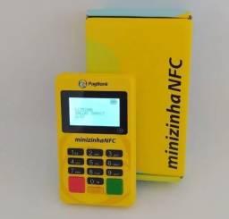 Maquina Minizinha NFC Bluetooth Pagseguro<br>Visor Iluminado