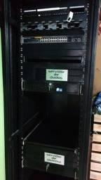 Rack 44 U?s x 600 x 800 + Switch 24 portas