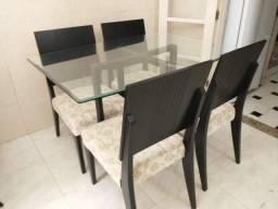 Mesa de Jantar 4 Cadeiras 120cm x 90cm